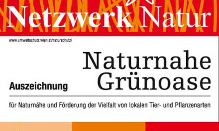Plakette für Naturnahe Grünoasen in Wien