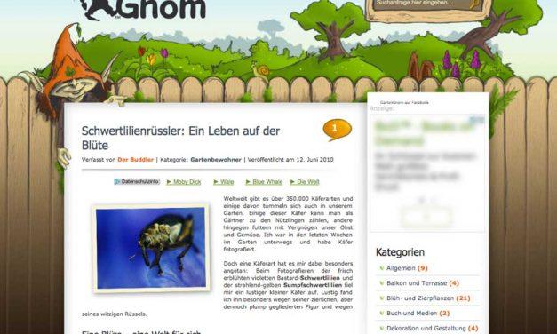 Erster Blog-Geburtstag bei den GartenGnomen