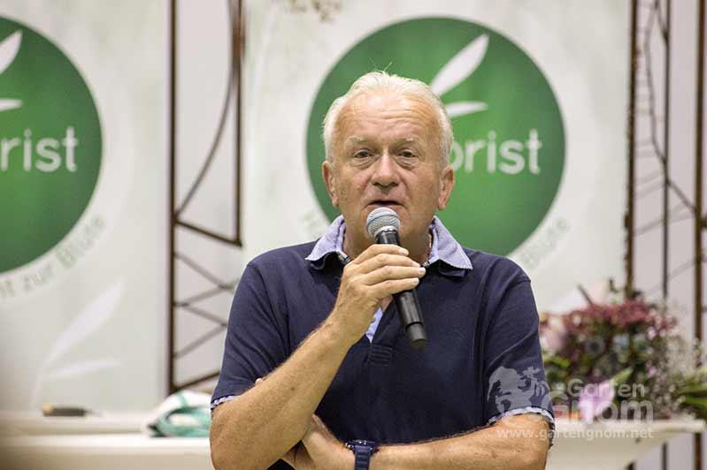 Fernseh-Gärtner Franz Gabesam auf der Interneationalen Gartenbaumesse Tulln 2016.