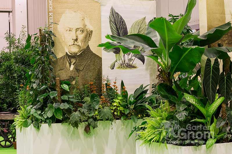 """Sonderausstellung """"Pflanzen auf Reisen"""" auf der Interneationalen Gartenbaumesse Tulln in 2016."""