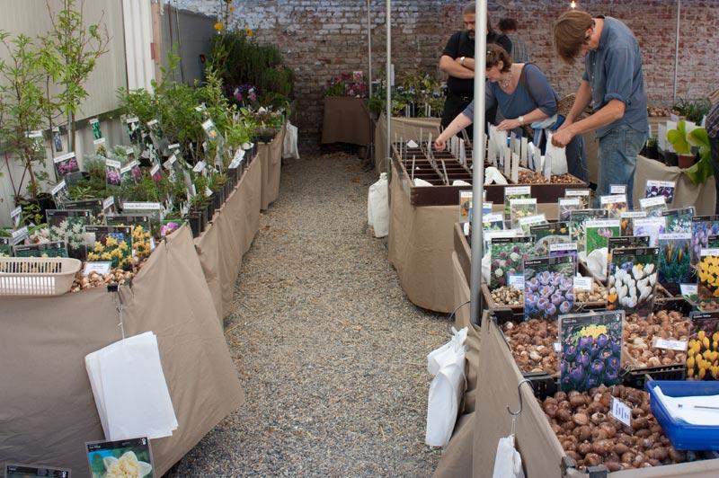Zwiebel, Knollen, Saatgut und Pflanzen auf der Flora Mirabilis Gartenmarkt 2011 in Wien.