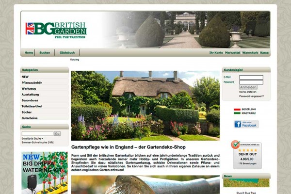 Screenshot von britishgarden.at