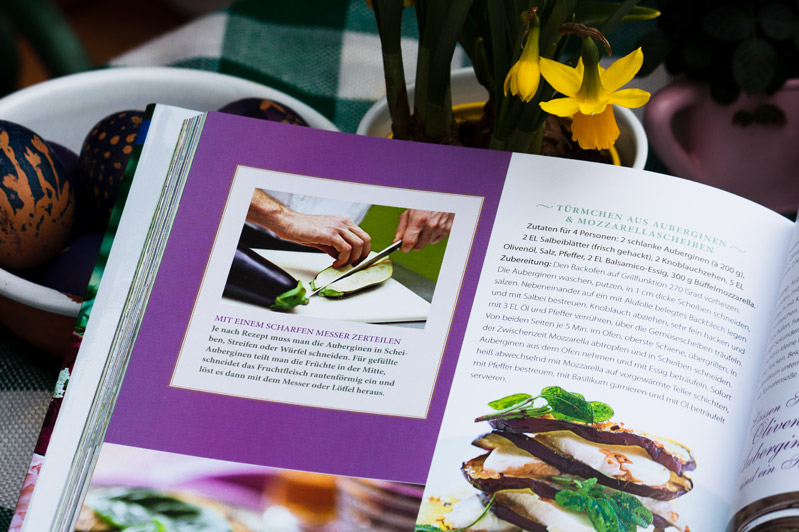 Buch: Verführerische Rezepte aus dem Garten, Anleitung Aubergin