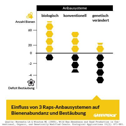 Greenpeace-Bienenschutz: Infographik  3 Anbausysteme