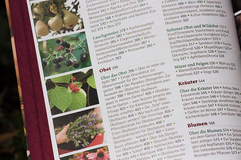 Das große Biogarten-Buch: Inhaltsverzeichnis