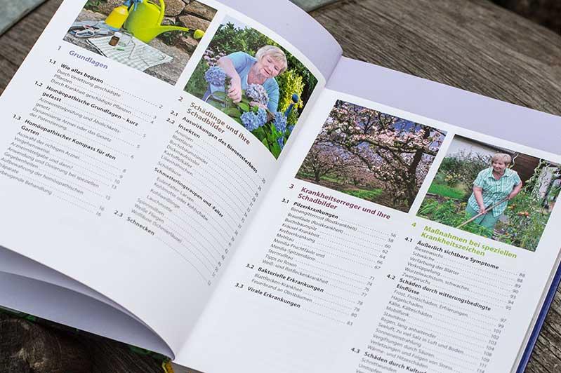 """Impressum des Buchs """"Homöopathie für Pflanzen"""" von Christiane Maute."""
