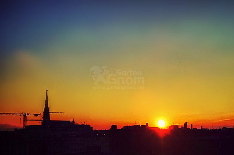 Abendrot über Wien